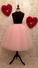 pink tulle skirt hen party wedding bridesmaid prom dress net flippy volume lined