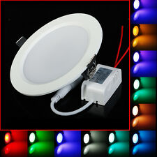 RGB 10W LED 16 Color Change LED Recessed Ceiling Panel Down Light Lamp+Remote
