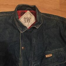 Wrangler Mens Vintage Western Denim Jacket Blue Large L 100% Cotton Thick