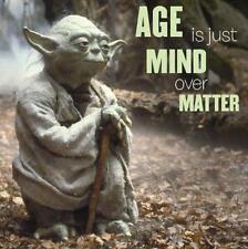 Star Wars Yoda âge est juste Mind over Matters Carte Anniversaire Cadeau Nouveau