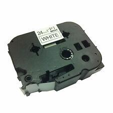 2x Brother Compatible TZ251 P-Touch 24mm Gloss Black/White Label Tape Cartridge