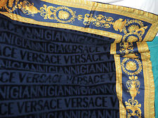 GIANNI VERSACE MEDUSA COMFORTER BLANKET BLUE IN DUSTY BAG $550 Sale