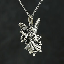 Guardian Angel Necklace - 925 Sterling Silver - 3D Pendant Angels Protection NEW