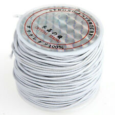 1 x White Rubber Elastic Beading Cord Thread String 1 mm N3