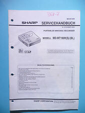 Service Manual-Anleitung Sharp MD-MT190 ,ORIGINAL
