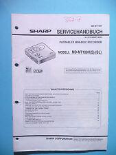 Service Manual-Anleitung Sharp MD-MT190 ,ORIGINAL