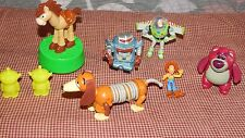 Toy Story Figure toys Lot Slinky Dog, Buzz Lightyear,Lotso Bear,Aliens Cake Top