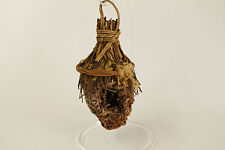 Vintage Rustic Bird Nest Christmas Ornament Holiday Tree Decoration 6x3 Inches