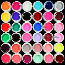 HOT 36 pcs Mix Color Solid Pure UV Builder Gel Acrylic Set for Nail Art Tips