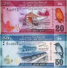 Sri Lanka - 20 and 50 Rupees - set of 2 UNC currency notes