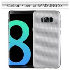 Samsung Galaxy S8 Case TPU Lightweight Carbon Fiber Phone Slim Case Cover SILVER
