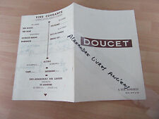 MENU RESTAURANT DOUCET PARIS 1950