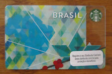 "Starbucks Card ~ ** BRASIL 2014  (""Map"")** NEW!!!~ Mint, Rare & HTF a"