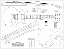 Gibson Les Paul Double cutaway GUITAR PLANS  - Full scale Guitar PLANS
