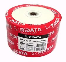 100 RIDATA 52X Blank CD-R White Inkjet Printable 700MB Disc FREE PRIORITY MAIL
