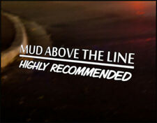 MUD ABOVE LINE  Car Decal Sticker Vinyl Graphic Land Rover 90 110 Bumper