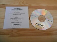 CD Pop Field Music - Let's Write A Book (1 Song) Promo MEMPHIS INDUSTRIES