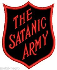THE SATANIC ARMY EMBROIDERED PATCH  INDUSTRAIL MARILYN MANSON Metal Negro