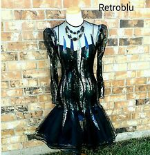 Vintage Victor Costa Cocktail Dress Avant Garde Mermaid Style Party Prom Dress