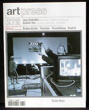Art press 272 : Tacita Dean, Dubuffet structuraliste, Robbe-Grillet, Fleischer