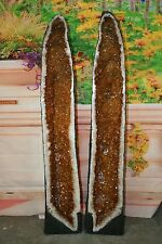 "Pair Large Citrine Geodes 52 1/4 "",53 5/8 "" Tall  265.58 lbs total  R.2051,2052"