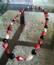 Furla Necklace Authenic Red Black Beige Italy