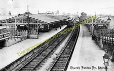 Church Fenton Railway Station Photo. Sherburn-in-Elmet - Ulleskelf and Tadcaster