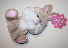 """Easter Trixie the Bunny Plush Toy Beige Fluffy 10"""" tall"""