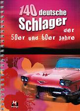 Keyboard Noten : 140 deutsche Schlager 50er u 60er Jahre - leichte Mittelstufe