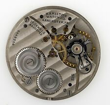 HAMILTON WATCH CO LANCASTER PA 912 USA POCKET WATCH MOVEMENT SPARES REPAIRS Q73