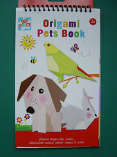 Origami Pets Book, Printed animal sheets, instructions and sticker sheets,