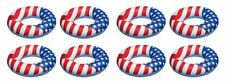 "8) Swimline 90196 36"" Inflatable American Flag Swimming Pool Lake Float Tubes"