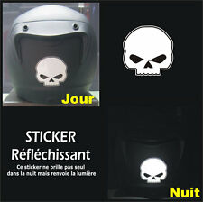 Sticker RETRO-REFLECHISSANTS SKULL - Harley HD - Tête de mort - 6cm x 6cm