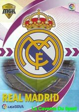 325 ESCUDO BADGE ESPANA REAL MADRID CARD MEGACRACKS 2016 PANINI