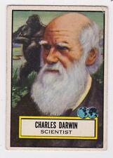 TOPPS 1952 LOOK N SEE CARD #124 CHARLES DARWIN, SCIENTIST, SHORT PRINT