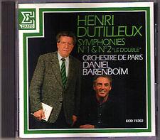 Daniel BARENBOIM: Henri DUTILLEUX Symphony No.1 2 Le Double ERATO CD 1988 Paris