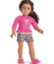 AMERICAN GIRL DOLL TRULY ME LOVELY LEOPARD PAJAMAS  OUTFIT NIB(no doll)