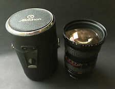 Makinon zoom 3.5 28-80mm lens in leather case Konica mount Japan
