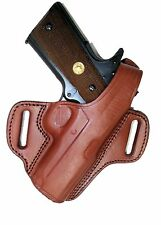 "Ruger SR1911 CDR 4.25"" Barrel 1911 OWB Holster Brown Leather Right Tagua BH1-212"