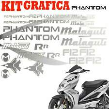 GRAFICA CARENA ADESIVI ADESIVO SCOOTER CARENE PHANTOM F12 R R STICKERS AREGENTO