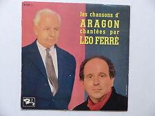 """25 cms 10"""" Les chansons d ARAGON chantées par LEO FERRE 80138"""