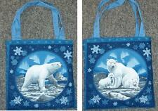 Awesome new tote hand bag Polar bear cubs snow ice