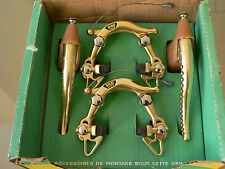 NOS NEW NIB rare MAFAC 2001 GOLD brakes and levers Merckx, Peugeot,mercier ecc