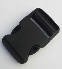Nexus Rounded Side Release Buckle 40mm Pack of 1 Black Plastic Webbing (RSR40)