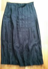 Lands End Womens: long black pleated skirt, size 2, NWOT