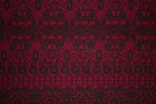 Red Black Floral Jersey Knit Print #4 Rayon Poly Spandex Lycra Fabric BTY