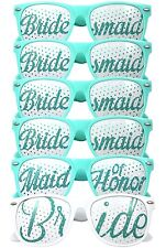 Set of 6 - Aqua Wedding Sunglasses - Bride To Be - Hen Night Party Do Glasses