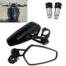 "Universal Motorcycle 7/8"" 22mm Handlebar Bar End Side Rearview Mirrors for Honda"