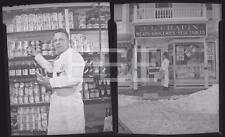 2 1943 J.L. Chapin NYC Grocery Store Coca Cola Ad Old Photo Negative Lot 346A