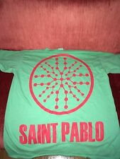 Sz L SAINT PABLO TOUR MERCH GREEN TEE T SHIRT TLOP KANYE WEST YEEZY MSG